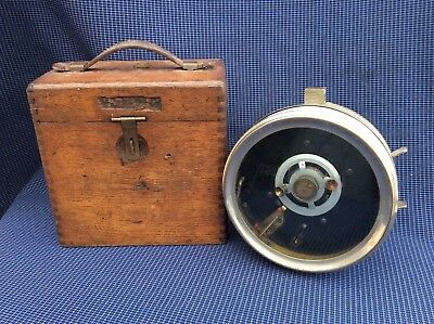 Vintage racing pigeon clock In a wooden case