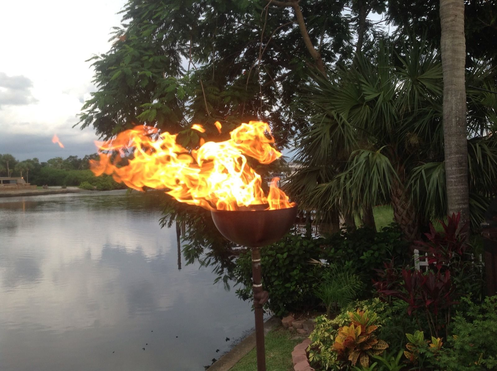 gather materials needed to make a propane tiki torch