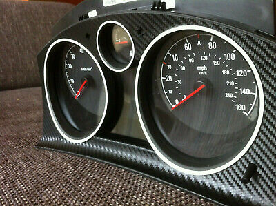 Opel Astra H Tacho Carbon Folie Aufkleber