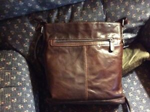 Jack georges crossbody brown leather purse