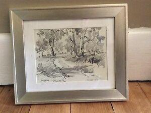 Ernest Vogel pencil sketch Burwood Whitehorse Area Preview