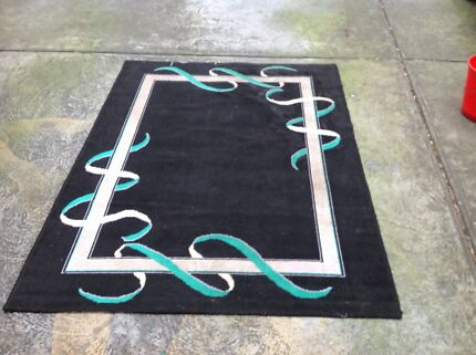 Small Black Bedside Rug 120cm x 180cm Forest Hill Whitehorse Area Preview