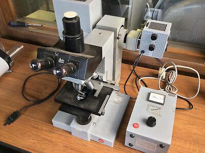 Ernst Leitz Gmbh Wetzlar Microscope Ortholux Ii 301-213.003 Transformator 4 Lens