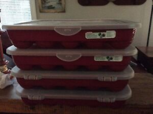 STERILITE  Ornament  Cases .Hold 20 large ornaments 4 for$12.NOW