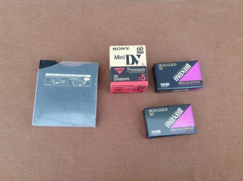 Lot Of Misc Blank Media - Mini Dv, VHSC & CD Stack