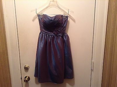 Bill Levkoff Women's Junior Purple Formal Strapless Bridesmaid Dress Size 0 Bill Levkoff Junior Bridesmaid Dresses