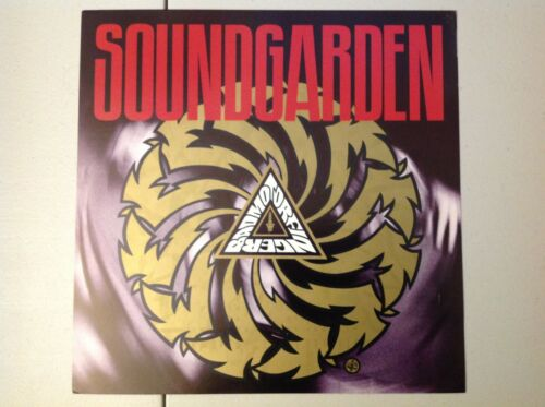 Vintage Soundgarden Promotional Poster Flat Badmotorfinger 1991 LP Size Cornell