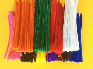 500 Pipe Cleaners Craft Chenille Stems 6mm x 15cm   BULK BUY FREE POST