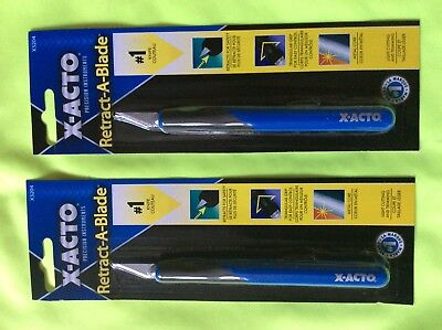 2 New X-acto Knives, Xacto  X3204, 3204, retractable, retract-a-blade for sale  Fort Worth