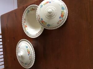 Antique serving bowls