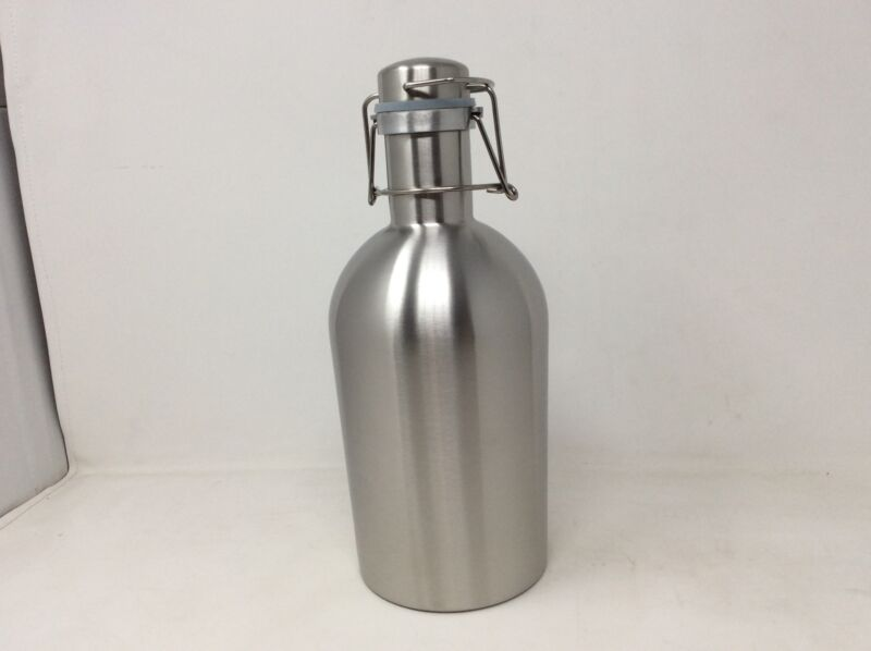 Clearance- Beer Growler 64 Ounces, Stainless Steel Swing-Top for Cold Homebrew