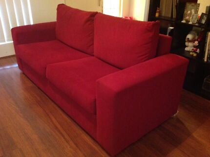 Red Freedom Furniture Couch Marsfield Ryde Area Preview