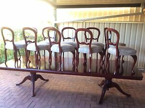 DINING TABLE 11 FT CEDAR 10 CHAIRS Botany Botany Bay Area Preview