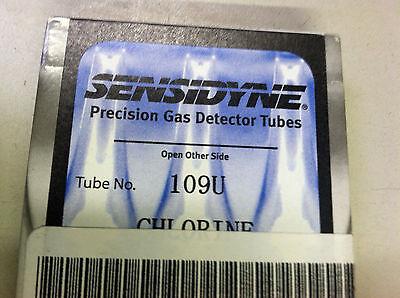 Sensidyne Chlorine Gas Detector Tube 109u Nsn 6665-01-512-3018 Nos C1315