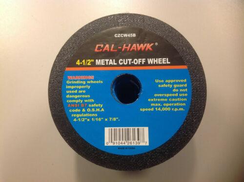 "Cal-Hawk 50 pack 4-1/2"" Metal Cut-off Wheels"