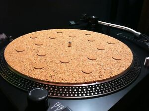 Cork Turntable Mat Platter Spot Mat Audiophile 3 16 034