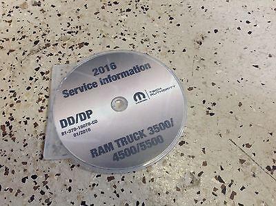 2016 Dodge RAM TRUCK 3500 4500 5500 Service Shop Workshop Repair Manual CD NEW