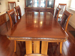 extension table exquisite cherrywood with 6 chairs incl 2 carvers Ringwood Maroondah Area Preview