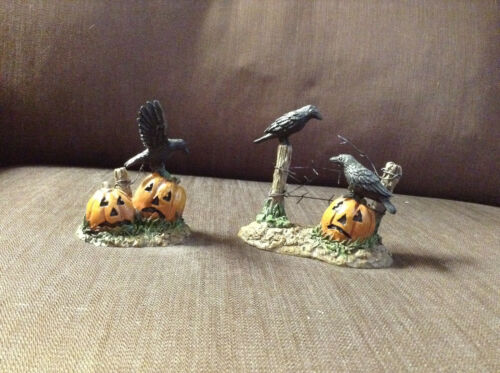 Department 56 Crows with Pumpkins
