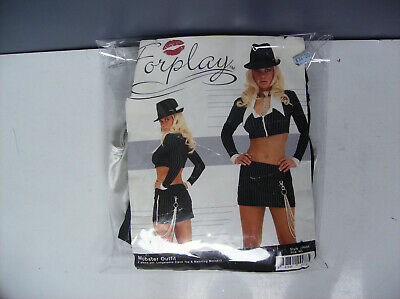 FORPLAY MOBSTER MOB MOFIA OUTFIT WOMEN HALLOWEEN COSTUME M/L (Mobster Halloween Costume)