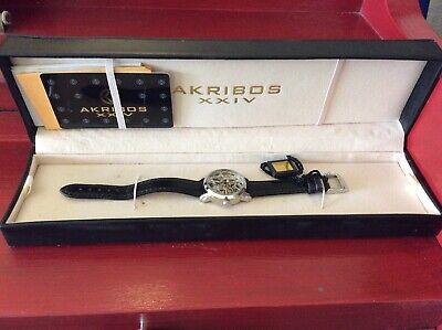Akribos XXIV Women's AK431SS Stainless Steel Swiss Automatic Skeleton Watch