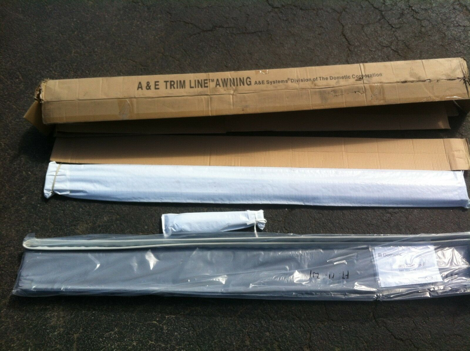 New A&E Dometic Trimline 13' Bag Awning Charcoal in Color