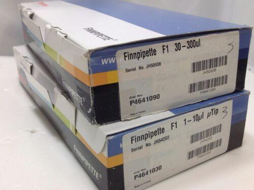 Set of 2 Thermo Scientific Finnpipette F1 Pipettes 10, 300 ul