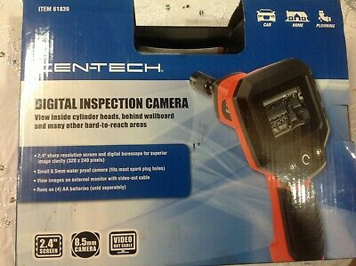 Cen-tech Digital Inspection Camera Complete Wbatteries Video Out Cable