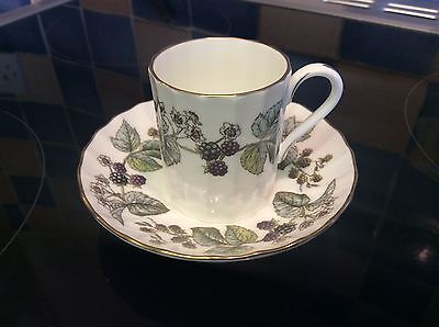 Royal Worcester Lavinia Cream Coffee Can / Cup & Saucer. Fine bone China