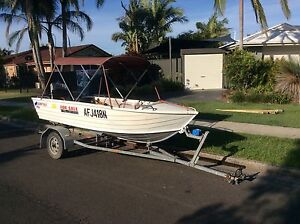 3.7 Quintrex tinny 20hp Mercury South Golden Beach Byron Area Preview