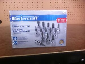 Brand New Mastercraft Bit Socket Set