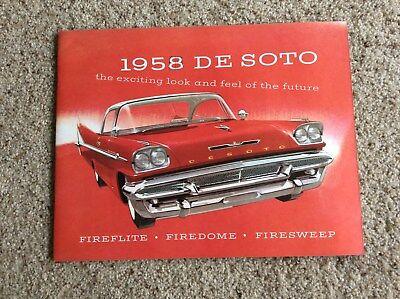 1958 DeSoto original dealership showroom deluxe color sales catalogue