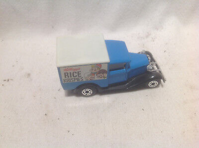KELLOGGS RICE KRISPIES MODEL A FORD MATCHBOX 1979-WHITE ROOF-VERY RARE!!!  1:64