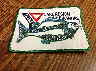 Vintage YMCA Patch Lake Region Piranhas