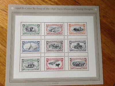 Scott # 3209 Bi-Color Re-issue of 1898 Trans-Mississippi Stamp Design  1998