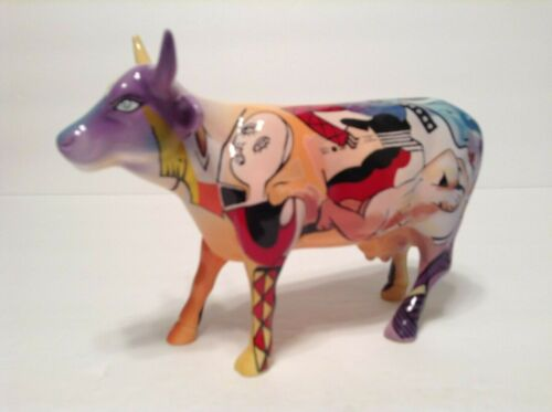 Cow Parade piCOWsso Figurine Chicago #9156 Retired HTF New OTH #2 Damaged Box