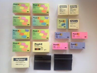 113 Post-it Notes Lot 3x5-45 Pads 3x3-20 Pads 1 12 X 2-48 Pads 2 Dispensers