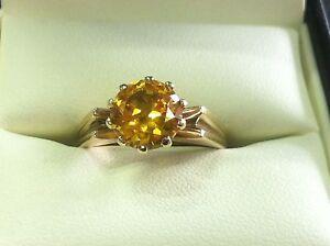 Gold Ladies Ring with Yellow Stone Bunbury Bunbury Area Preview