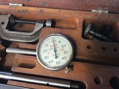 Vintage Lufkin Dial Indicator Kit. 399a-299a W Wooden Box. Machinist Tools