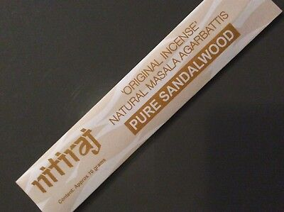 NITIRAJ THE ORIGINAL NATURAL MASALA AGARBATTIS PURE SANDALWOOD INCENSE STICK 10g