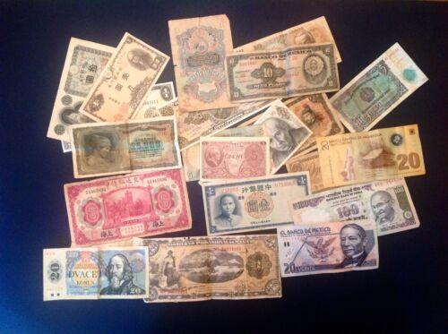Lot of 22 -  Antique & Vintage World Banknotes - A wonderful Selection
