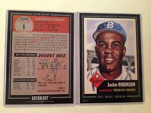JACKIE ROBINSON #1 Dodgers RC 2016 Topps Anthology 5X7 Silver Edit #ed/49 made