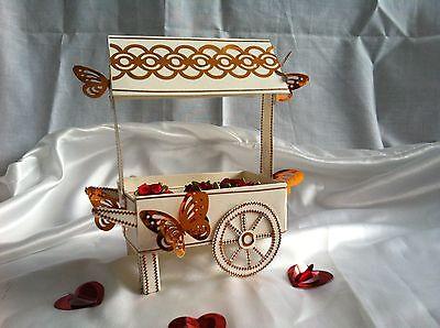 E craft  3D Wedding Cart & Display Box ideal for Weddings, Card or Sweet Cart
