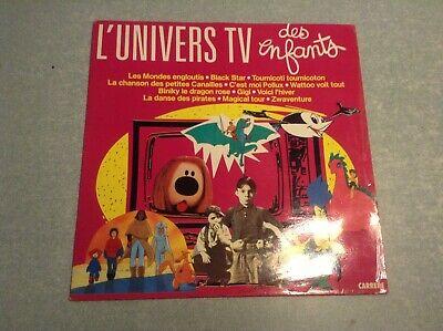 Disque vinyle 33 tours (b) l'univers tv des enfants