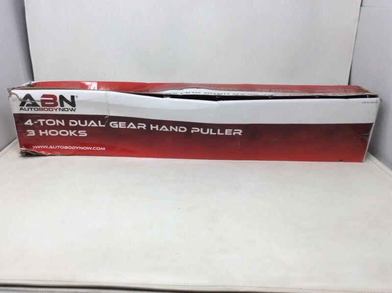 Clearance- ABN 4 Ton Dual Gear Hand Puller Heavy Duty Steel with 3 Hooks