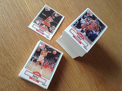 Complete Set Fleer 1990-1NBA Basketball trading cards 1-198 Inc Michael Jordan