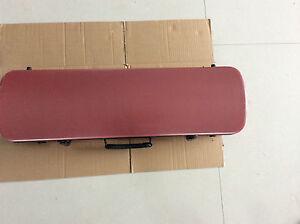 Musical instrument case for 4/4 size violin carbon fiber red color
