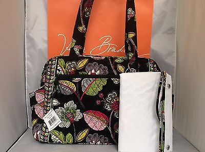 NWT Vera Bradley Moon Blooms Make A Change BABY Bag Travel Overnight Diaper Tote