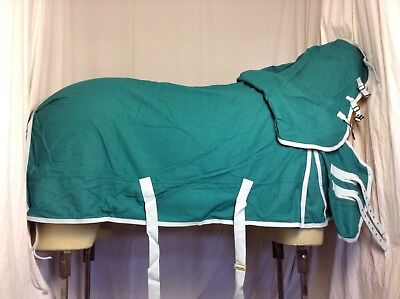 NEW 5'9 Derbyhouse Pro Cotton Sheet Horse Rug With Fixed Hood