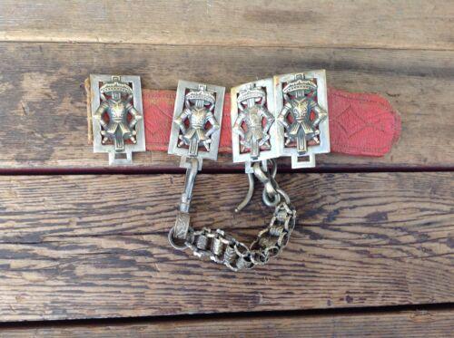 Very Cool Vintage Masonic Belt Slides